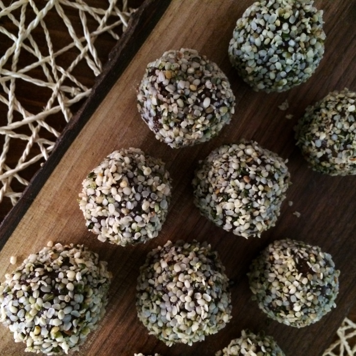 orange chocolate chia bites